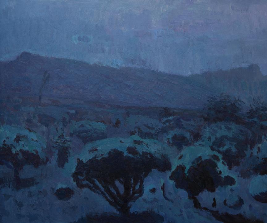 """Dreaming Desert, 21"""" x 24"""" © Eric Merrell"""