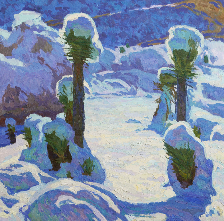 "Joshua Trees in the Snow, 24"" x 24"" © Eric Merrell"