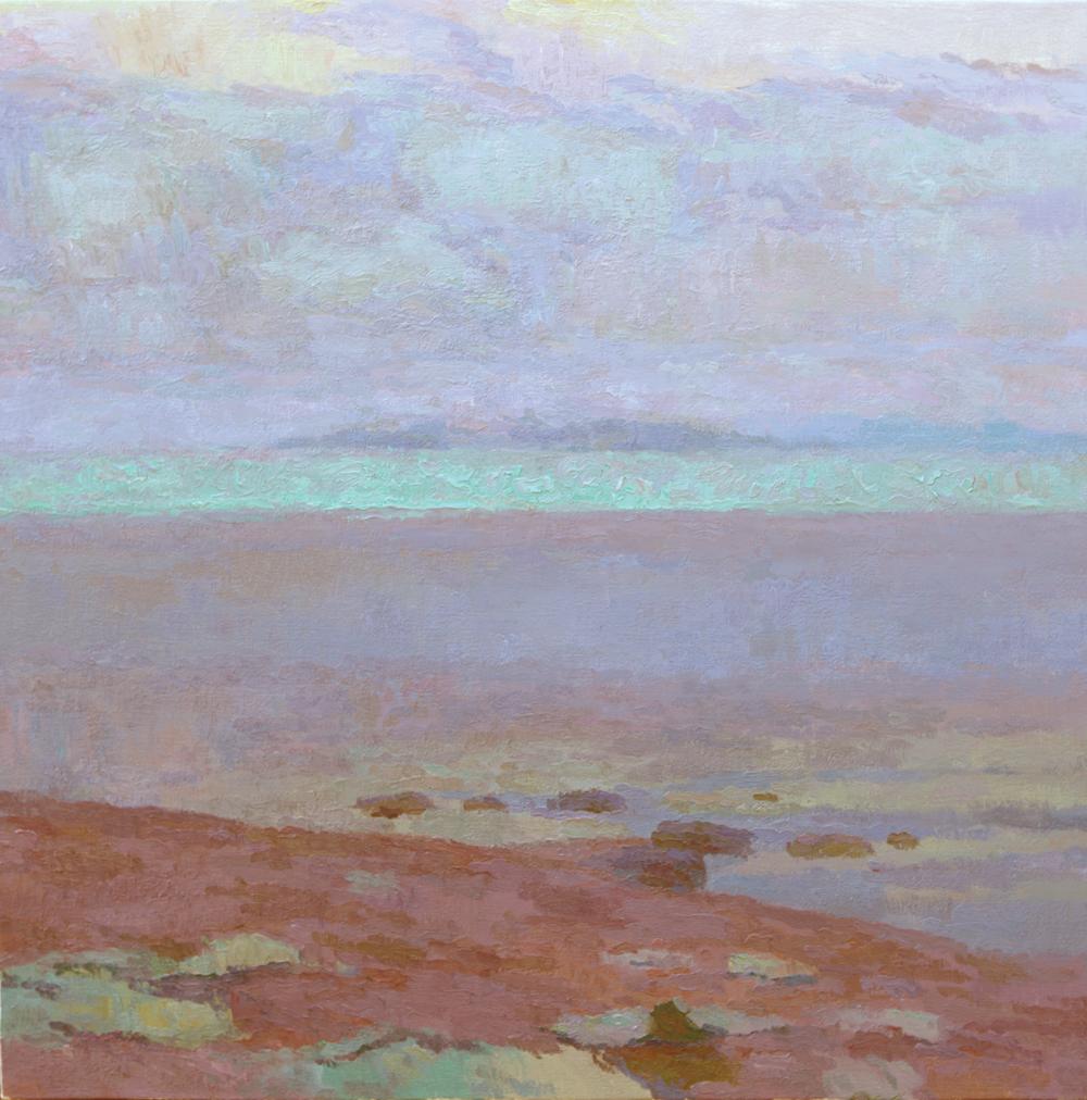 "Salton Sea Haze, 30"" x 30"", © Eric Merrell"