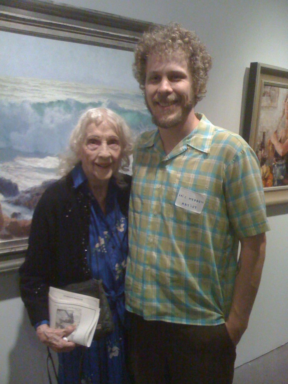 Daphne Huntington and author Eric Merrell at the California Art Club's  98th Annual Gold Medal Juried Exhibition , PMCA, May 17, 2009.