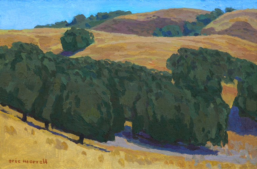 "Burnished Hillsides, 12"" x 18"" © Eric Merrell"