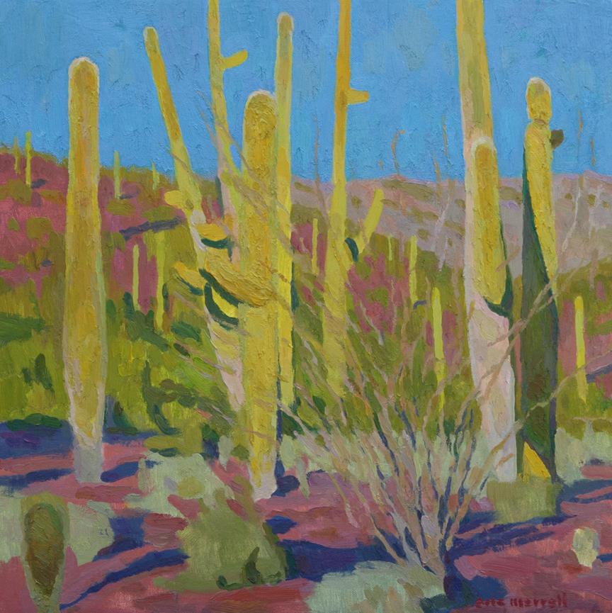 "Eric Merrell, Saguaro Forest, 2016, 16"" x 16"""