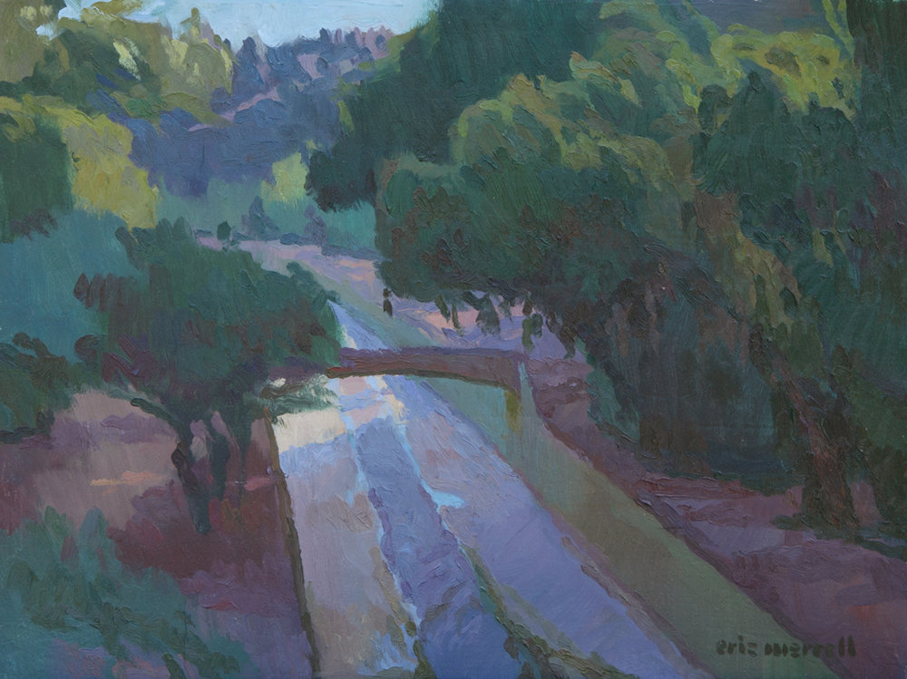 "Eric Merrell, Arroyo Seco Afternoon, 2011, 12"" x 16"""