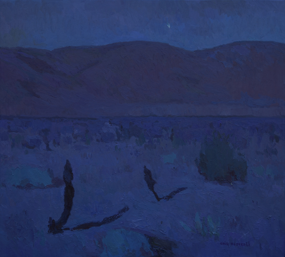 "Eric Merrell, Desert Moonlight with Jupiter Setting, 2013, 24"" x 26"""
