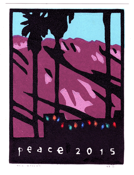 "Peace  (version 2) Linocut Image size 7.5"" x 5.5"" Version 2 [Out of print]"