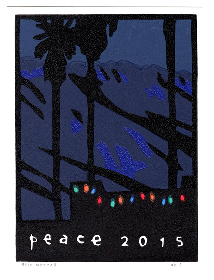 "Peace  (version 3) Linocut Image size 7.5"" x 5.5"" Version 3 [Out of print]"