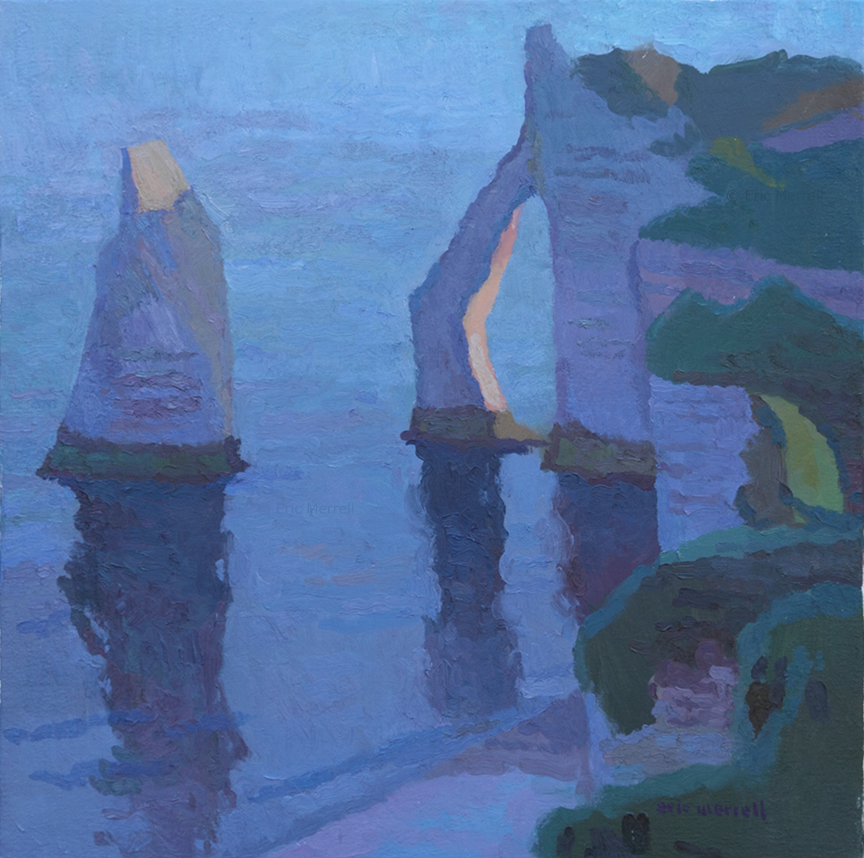 First Light on the Needle and Porte d'Aval, Étretat, France
