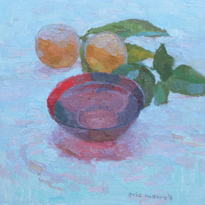 Red Bowl and Oranges