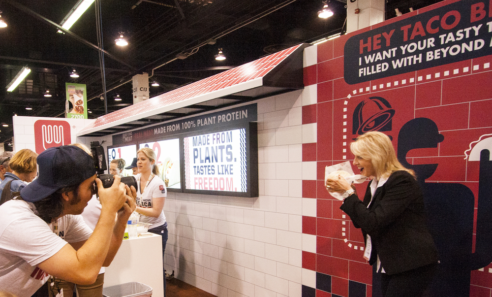 ...the booth was even awarded Best in Show at  Expo West , the world's largest food expo.