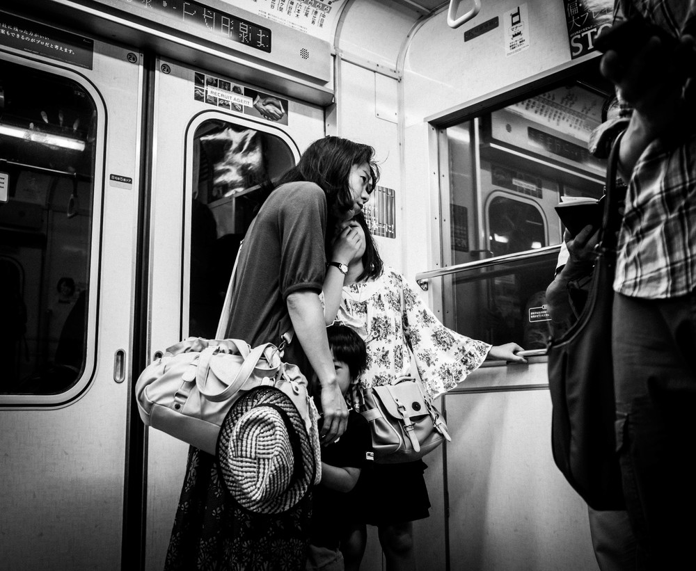 """""""The Discovery"""" Tokyo subway OMD 17 f1.8"""
