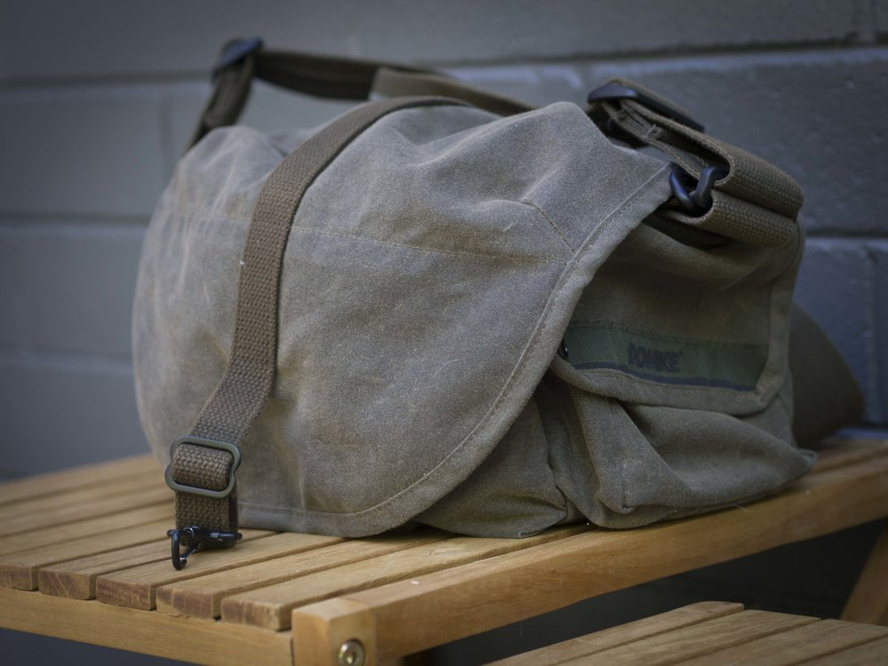 The less rigid, rugged wear look. Remember this bag is only a year old.