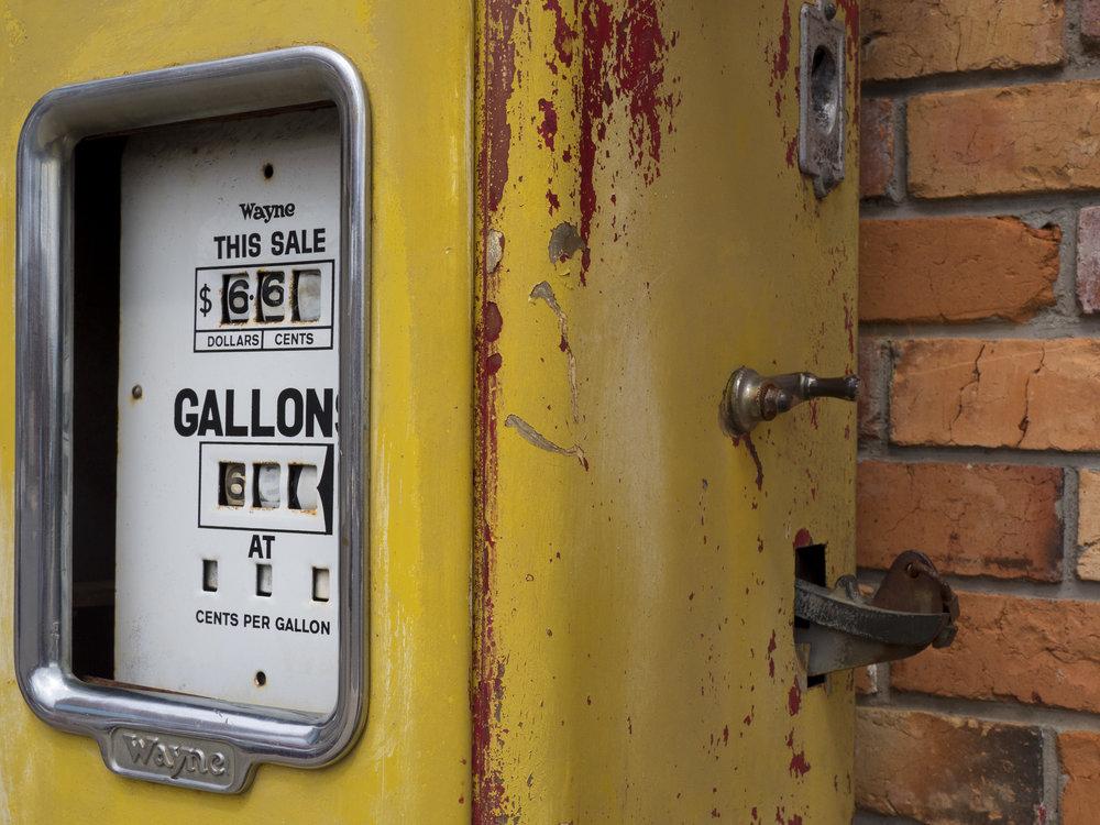 Gas pump, Latrobe Tasmania.