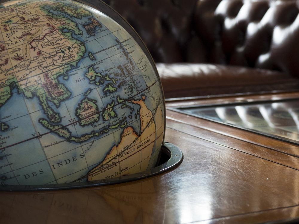 Globe detail, Latrobe Tasmania