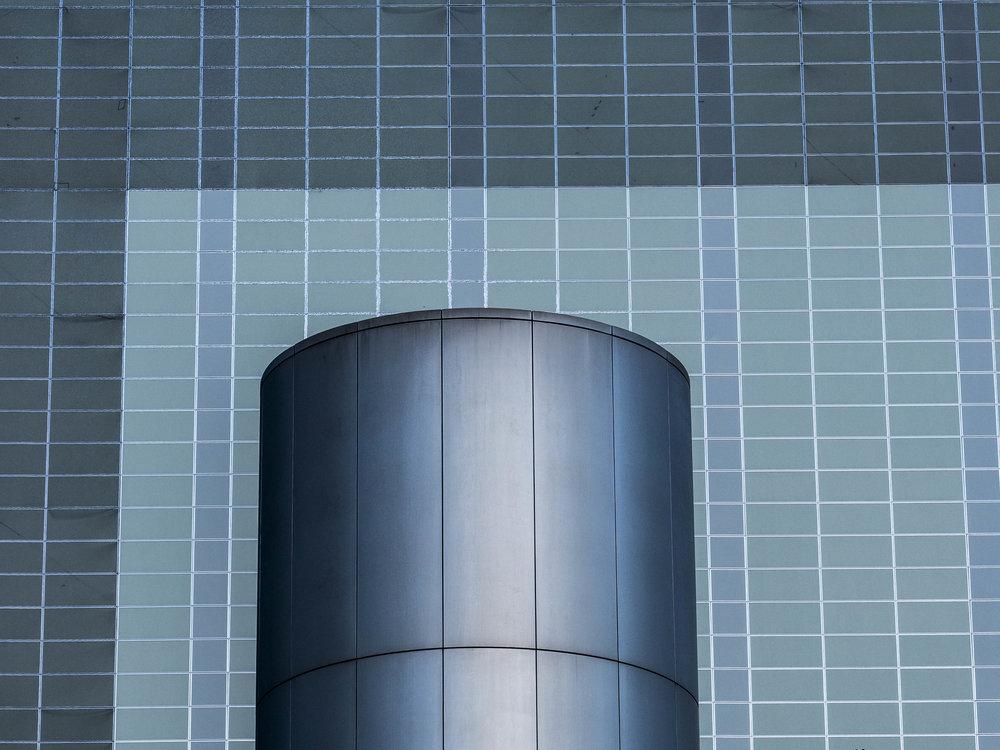 75mm. Building detail Tokyo Japan.
