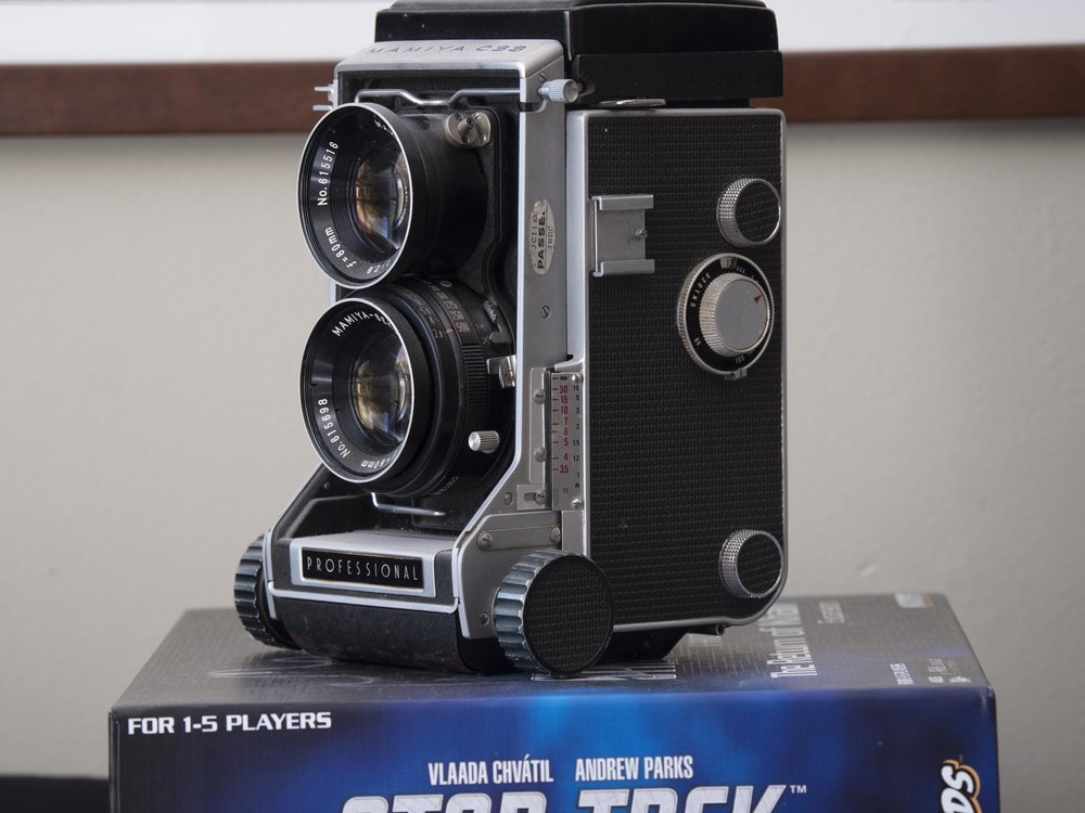 "The original from the 12-100 ""Mamiya on a bedrock of Trek""!? The tarnish is still visible."