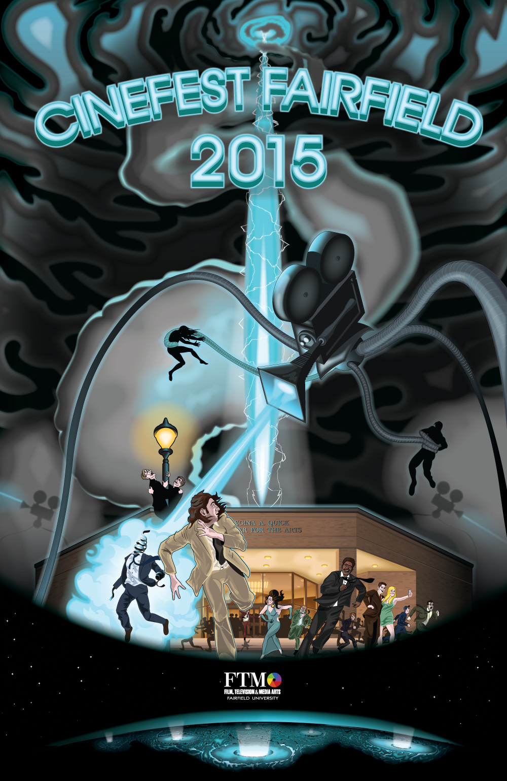 Cinefest Fairfield 2015 Poster Illustration