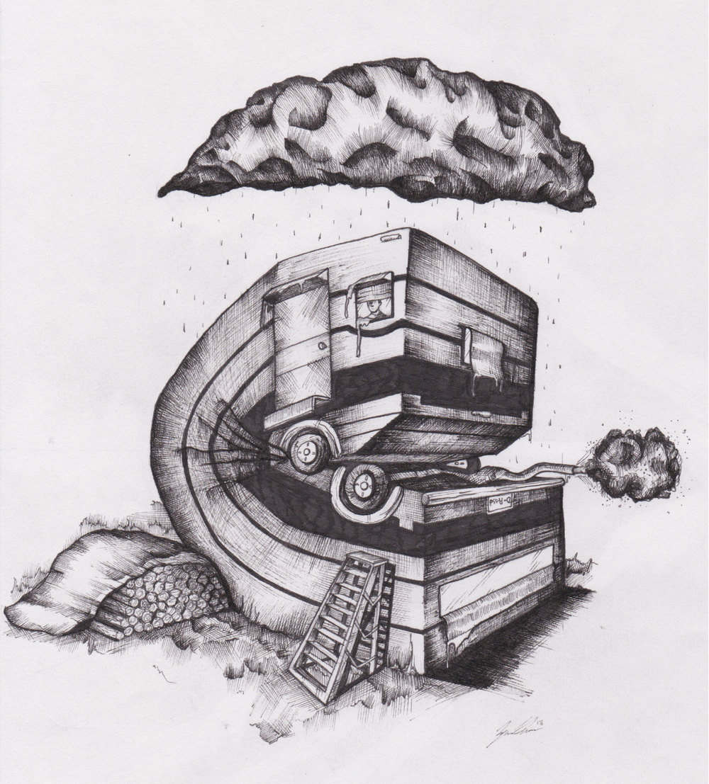 Trailer - Pen and Ink