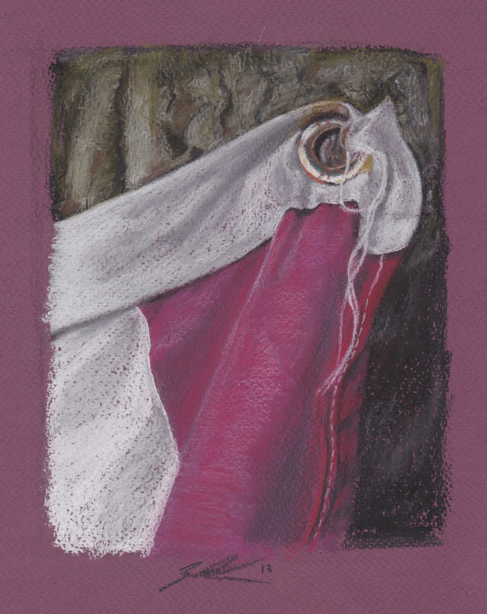 Flag Grommet Study - Pastel