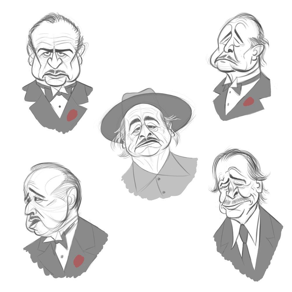 Don Vito Corleone studies