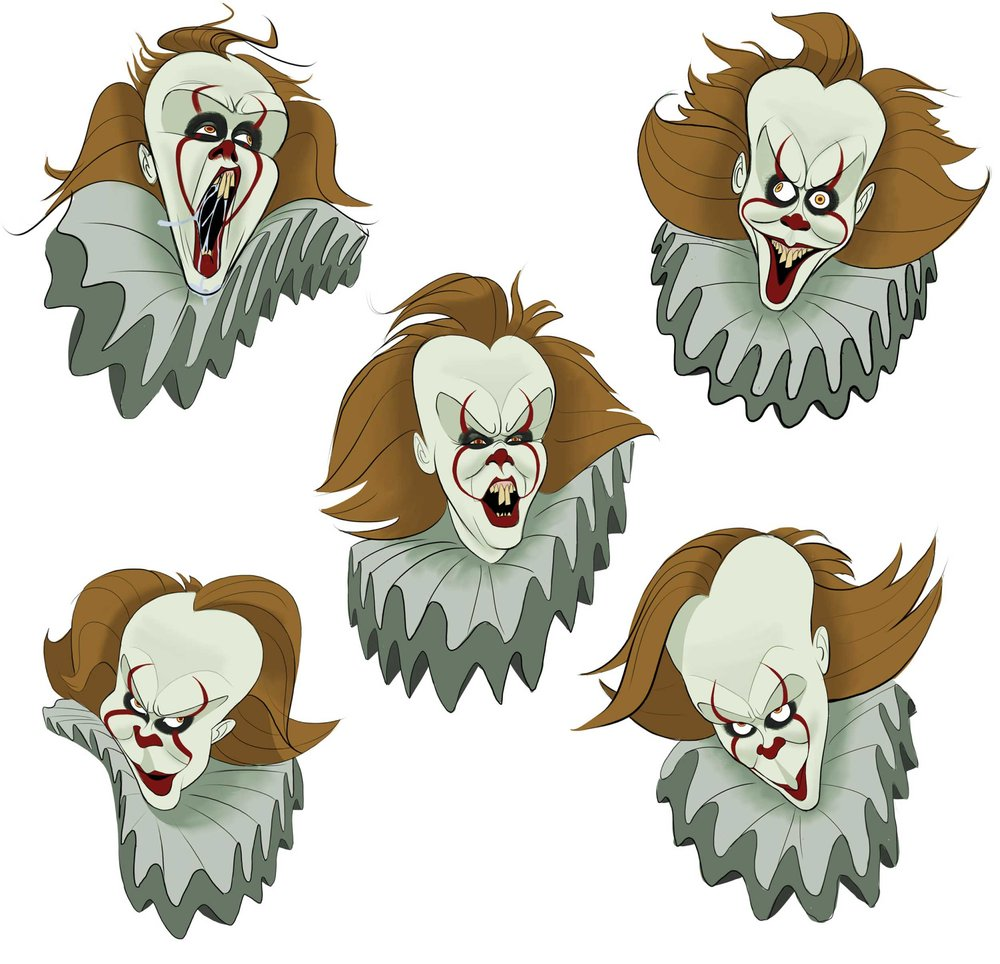 (2017) IT Pennywise expressions