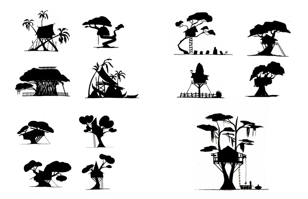 Tree House Silhouette Exploration