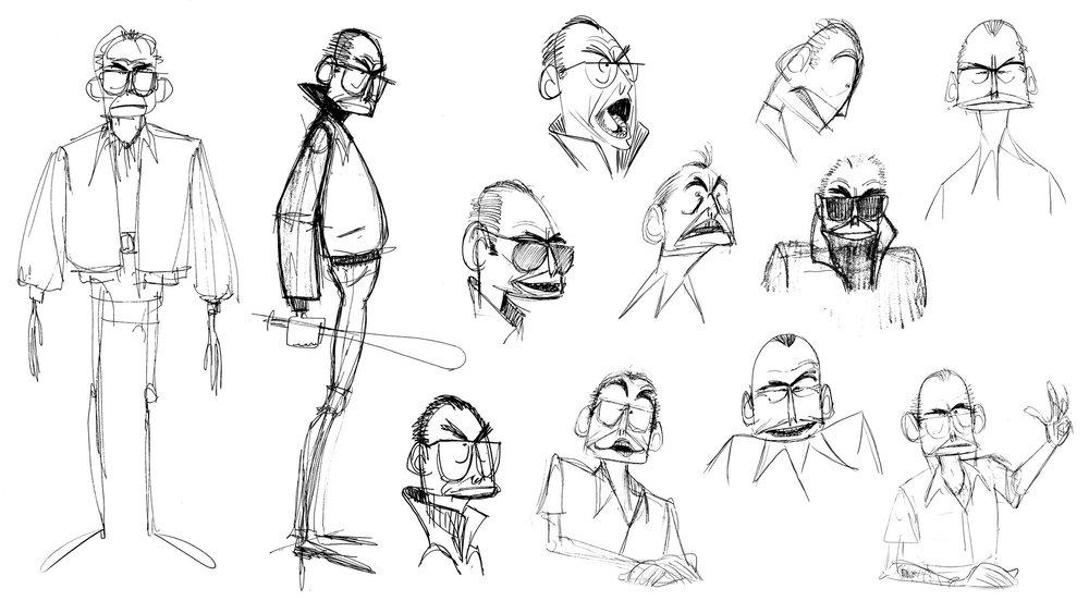 "James ""Whitey"" Bulger Jr. Exploration Sketches"