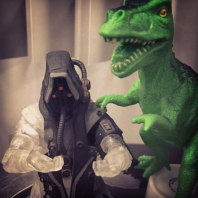 """#Theodore is trying to #comfort his #friend #helghast, who has lately been #wondering """"What have I done with my #life?"""" #poor #career #choices"""