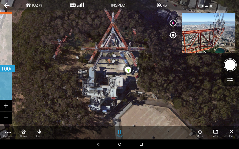 Map view:  Gives user maximum navigation control from a top view.