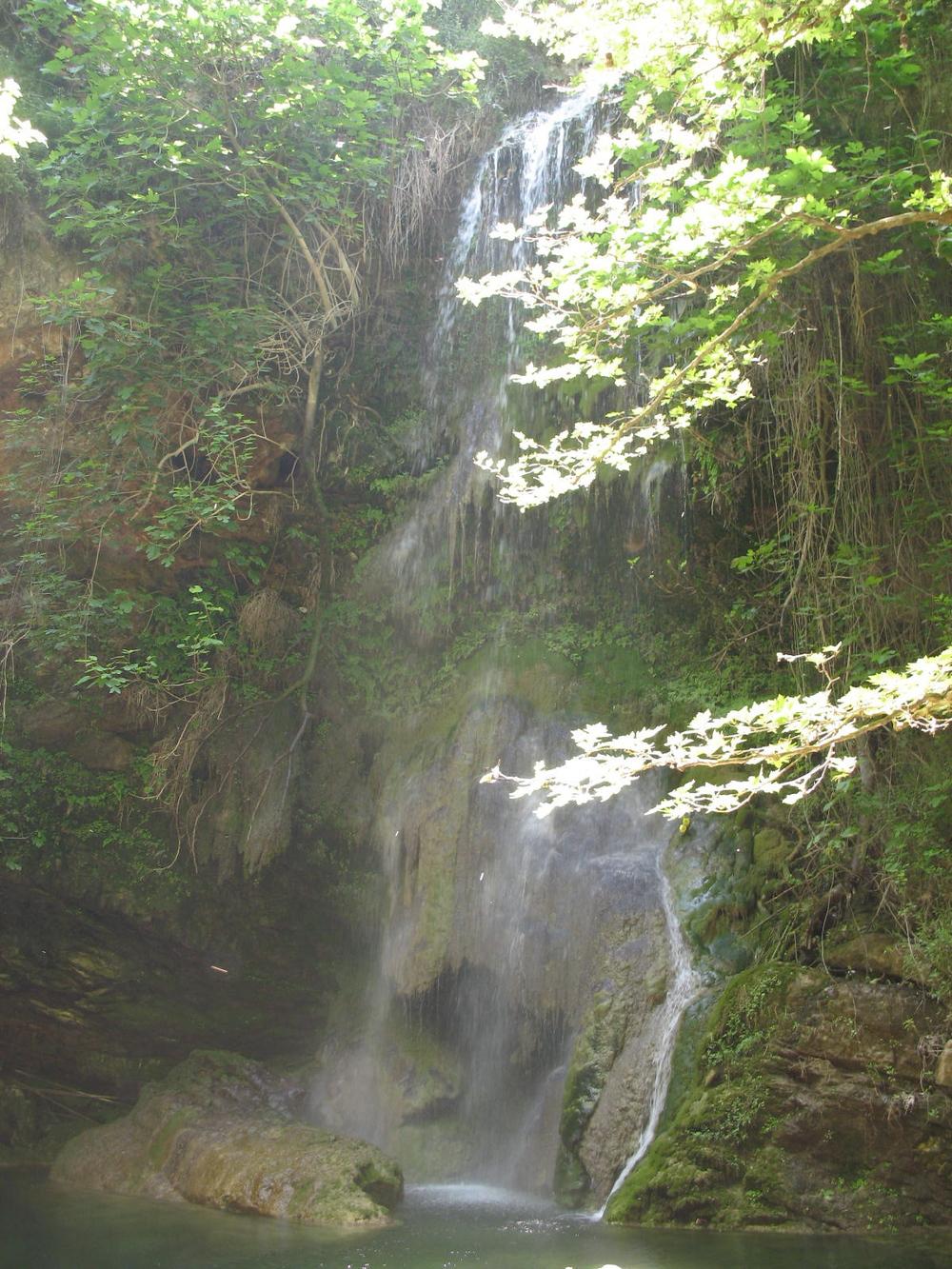 Waterfall in charming Milopotamos