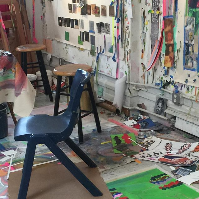 Had a nice time @franklinevansart studio talking for @soundandvisionpodcast link in bio #art #artist #painting #franklinevans @ameringer.mcenery.yohe #🎨