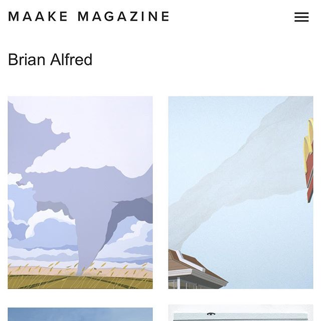 Thanks @maakemag for the interview and feature. Link in bio! #maakemag #art #conversation #interview #artist #magazine #brianalfred