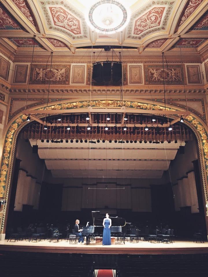 Performance at Detroit Symphony hall