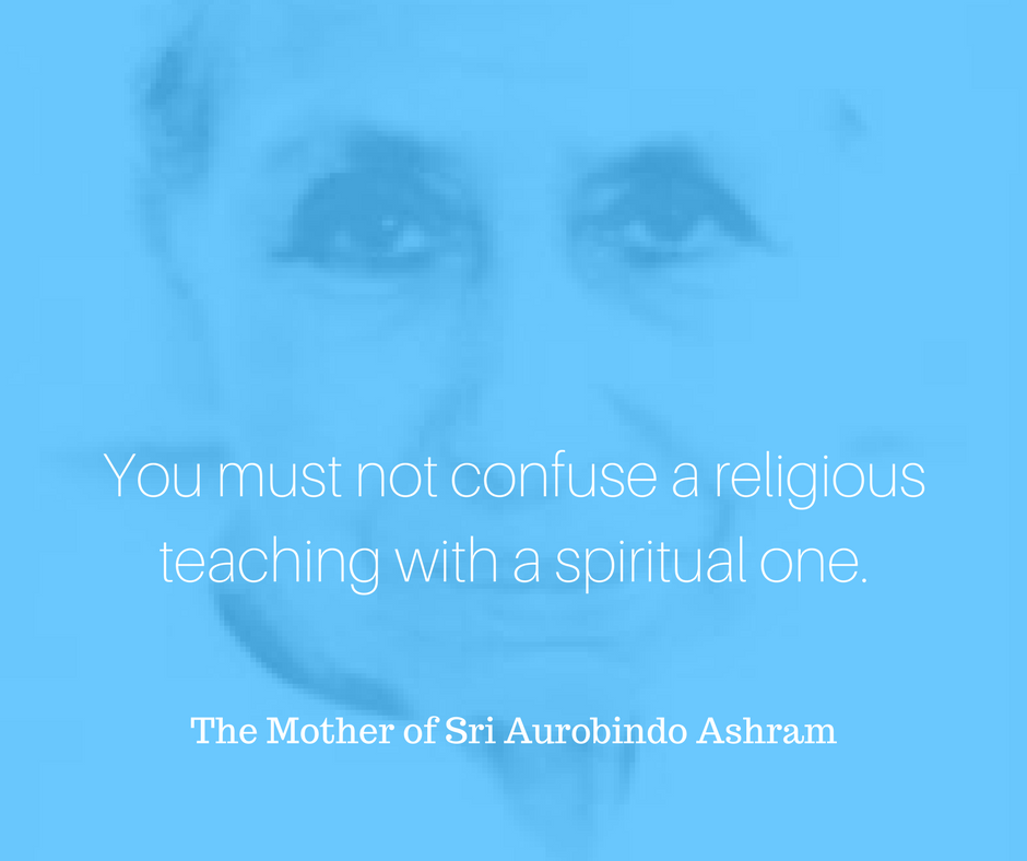 You must not confuse a religious teaching with a spiritual one..png
