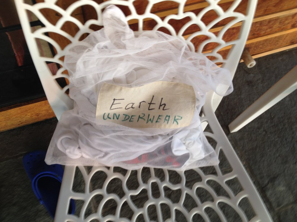 "I stayed in the ""Earth"" suite, and that's my clean underwear!"