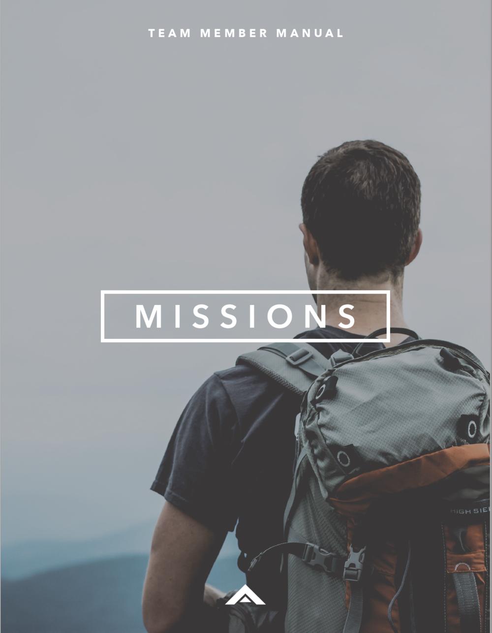 TEAM MEMBER - TEAM MEMBER MISSIONS MANUAL