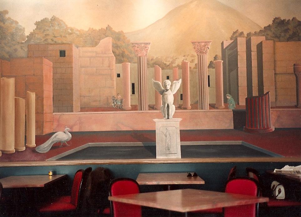 Seattle restaurant mural.