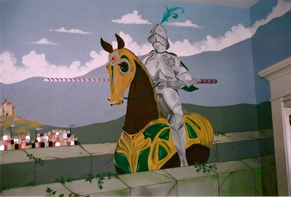 This is part of a large mural for a children's play area in a home in Madison Park.