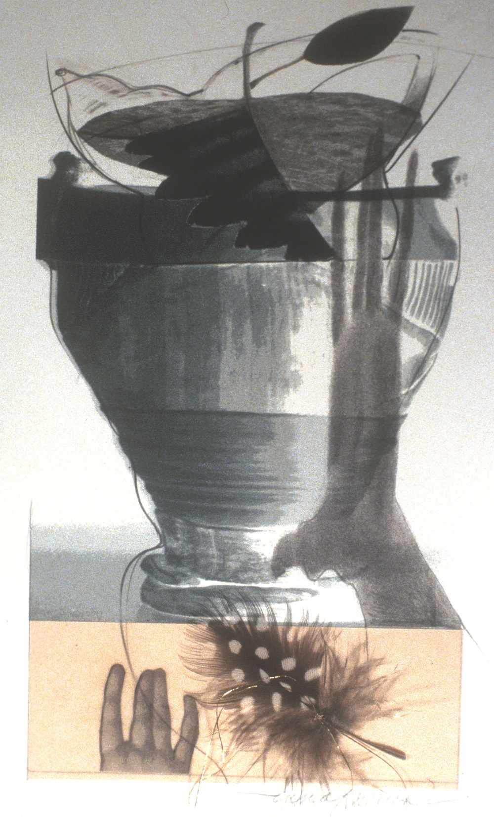 """Amphora with Feathers"""