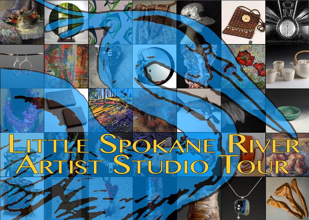 Publicity postcard, 2016, Little Spokane River Artist Studio Tour