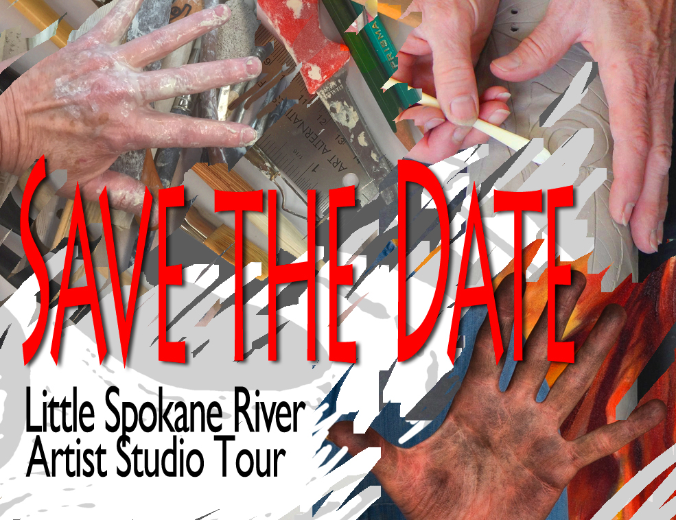 Little Spokane River Artist Studio Tour Save the Date postcard 2017
