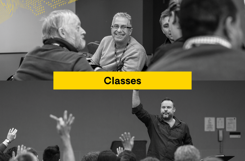 Throughout the weekend, learn and grow in small intimate classroom settings.