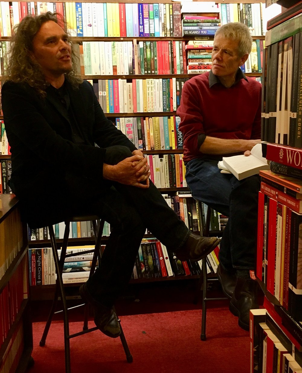 Joel Deane interviewed at the  Paperback Bookshop  by Bill Morton. October 10, 2018.