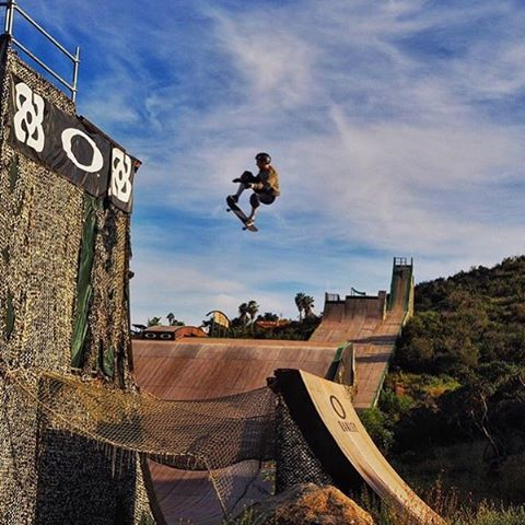 Sunset euro gaps at the Dreamland! PC: @markus.olberz  @nikesb @theevetrucks @gopro @sk8_strong @ridetsg @bcsurfandsport @matesbrand