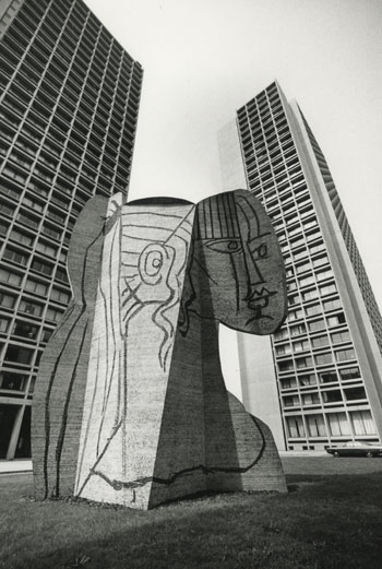 Bust of Sylvette, Pablo Picasso (Constructed by Carl Nesjar), 1968