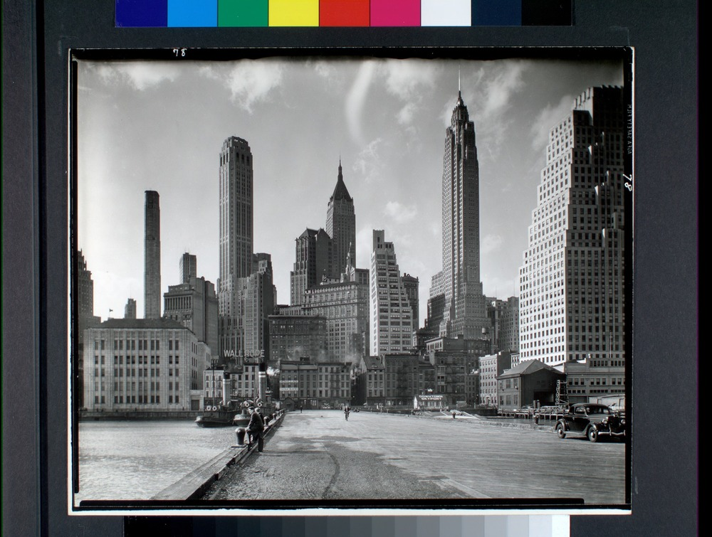 Manhattan Skyline: I. South Street and Jones Lane, Manhattan (1935) | Abbott Berenice