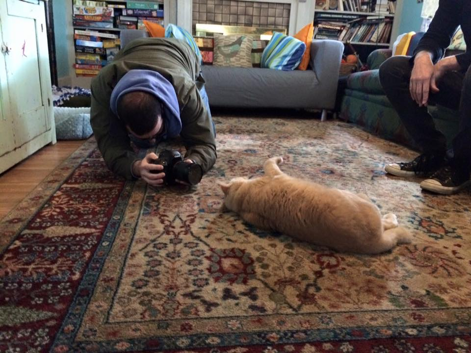 """Broad & High"" cameraman, Andrew, shoots footage of CatBob"