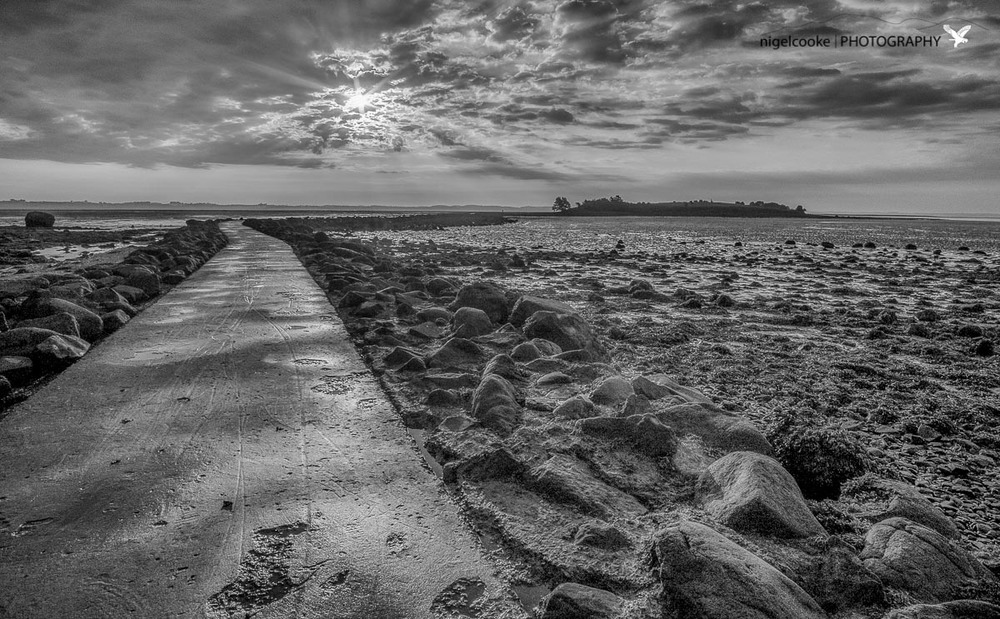 When The Tide Goes Out - Fuji XE2 + Samyang 12mm (3 frames merged in LR then Silver FX)