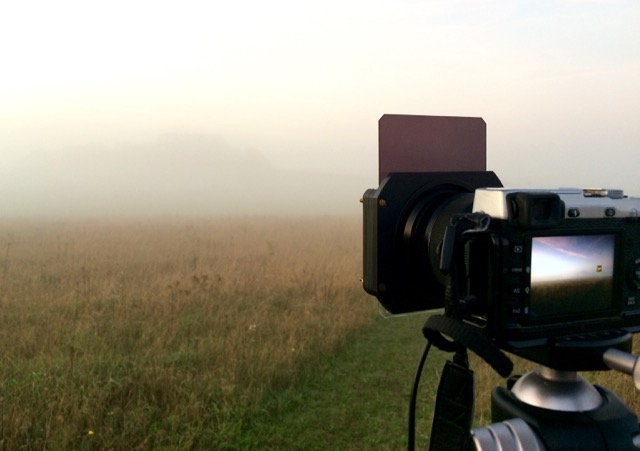 Conditions were pretty stunning with the dense fog flowing over the Gogmagog Downs