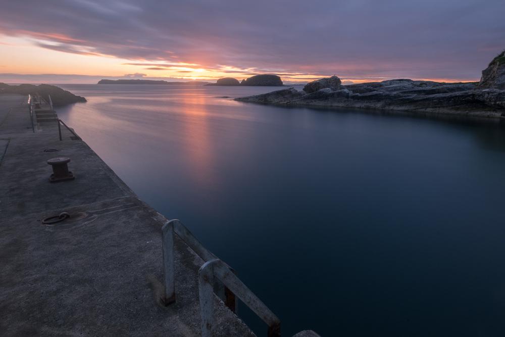 Dawn at Ballintoy - Fuji XE2 + 10-24mm. Formatt Hitech 3 stop ND Grad and 10 stop ND