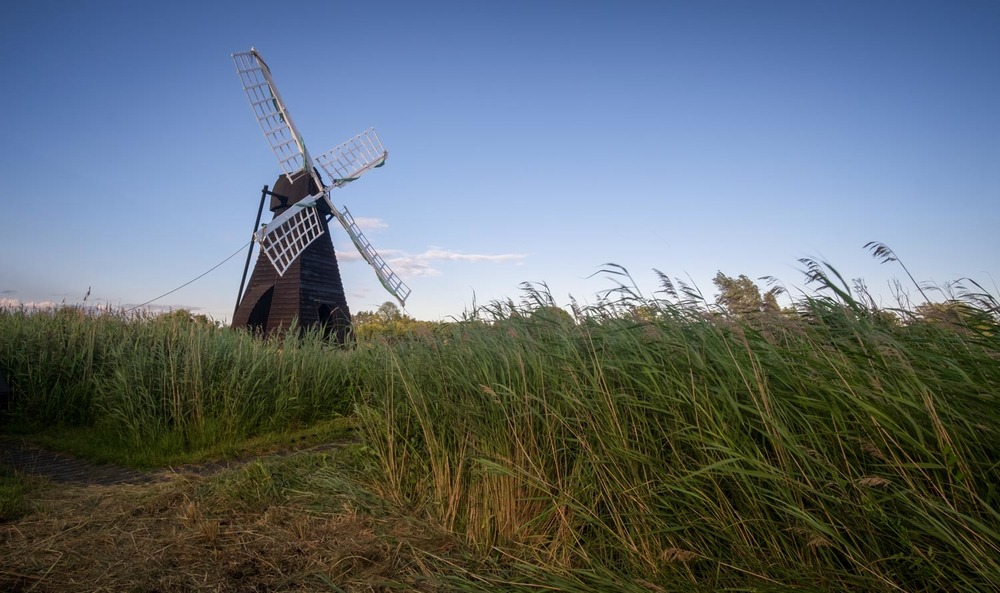 The Sermon on the Fen (Wicken Fen Windpump in Evening Light)